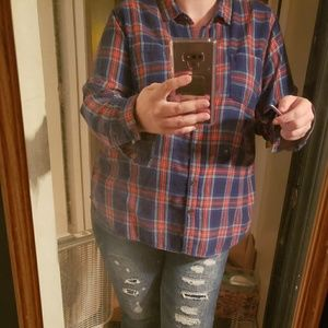 Old Navy Tops - Old Navy XXL Plaid Button up GUC